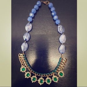 Gold and emerald necklace